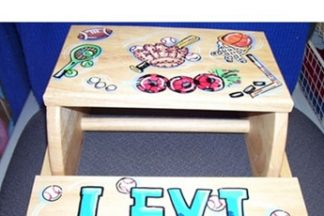 Hand Painted Wooden Flip Stools