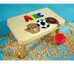 Personalized Name Puzzle Sport Stool