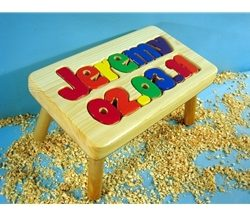 Personalized Name and Birthday Stool