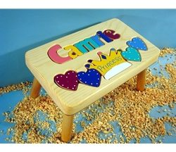 Personalized Name Princess Stool