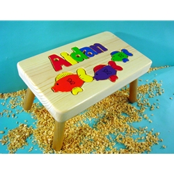 Personalized Name Fish Stool