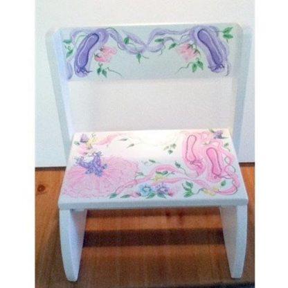 A little girl's wooden flip stool.