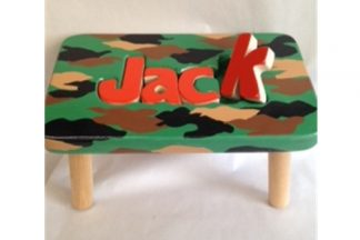 Handpainted Camo Stool