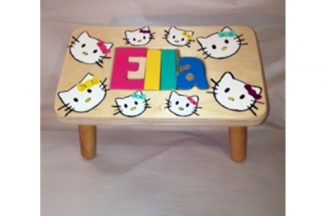 Hand Painted Kitty Kat Stool