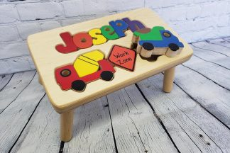Personalized  Construction Truck Stool